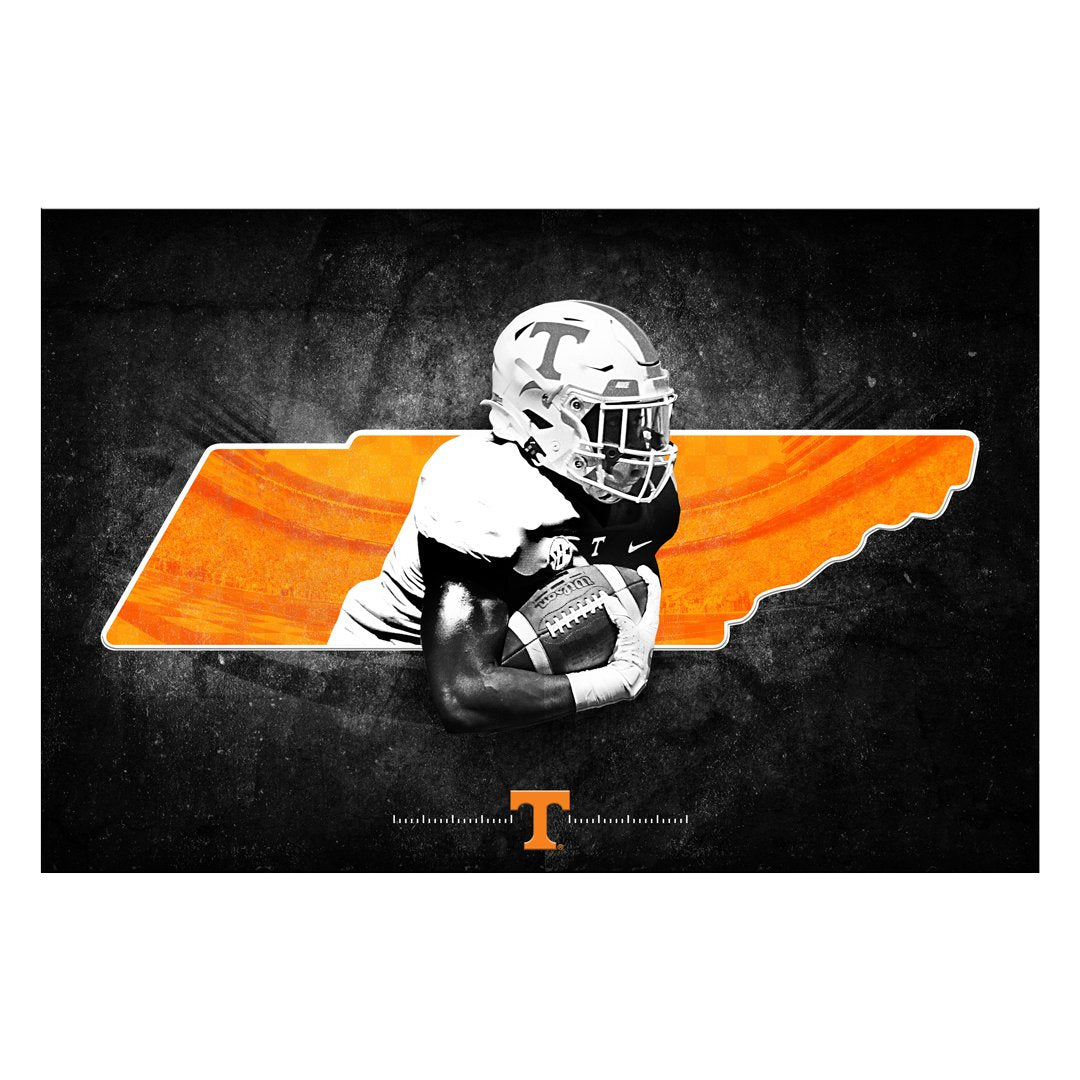Tennessee Volunteers -  Run thru the state 2 layer Dimensional -College Wall Art #Dimensional