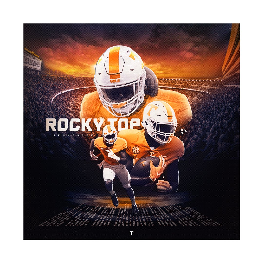 Tennessee Volunteers -  Rocky top Sunset 2 layer Dimensional -College Wall Art #Dimensional