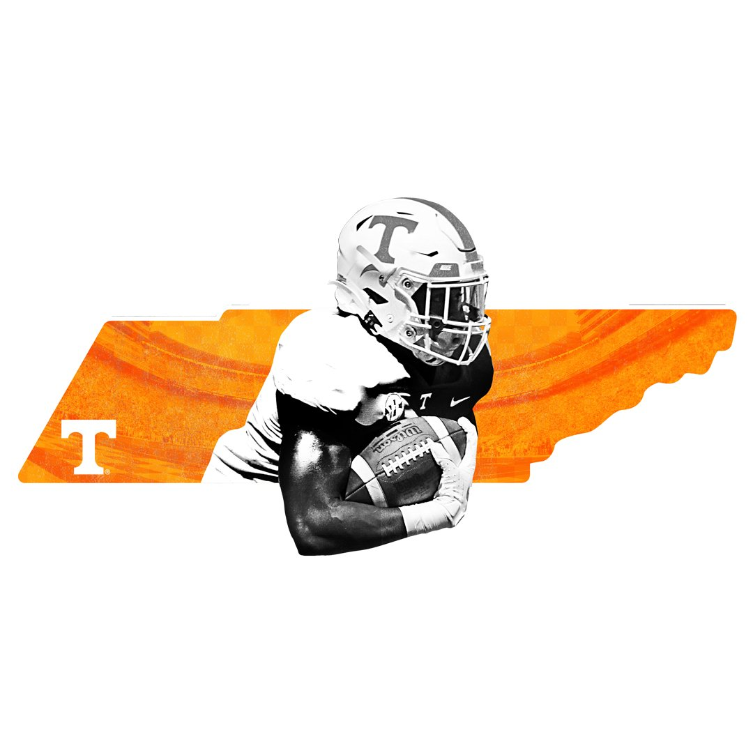 Tennessee Volunteers - Run thru the state 1 layer dimensional