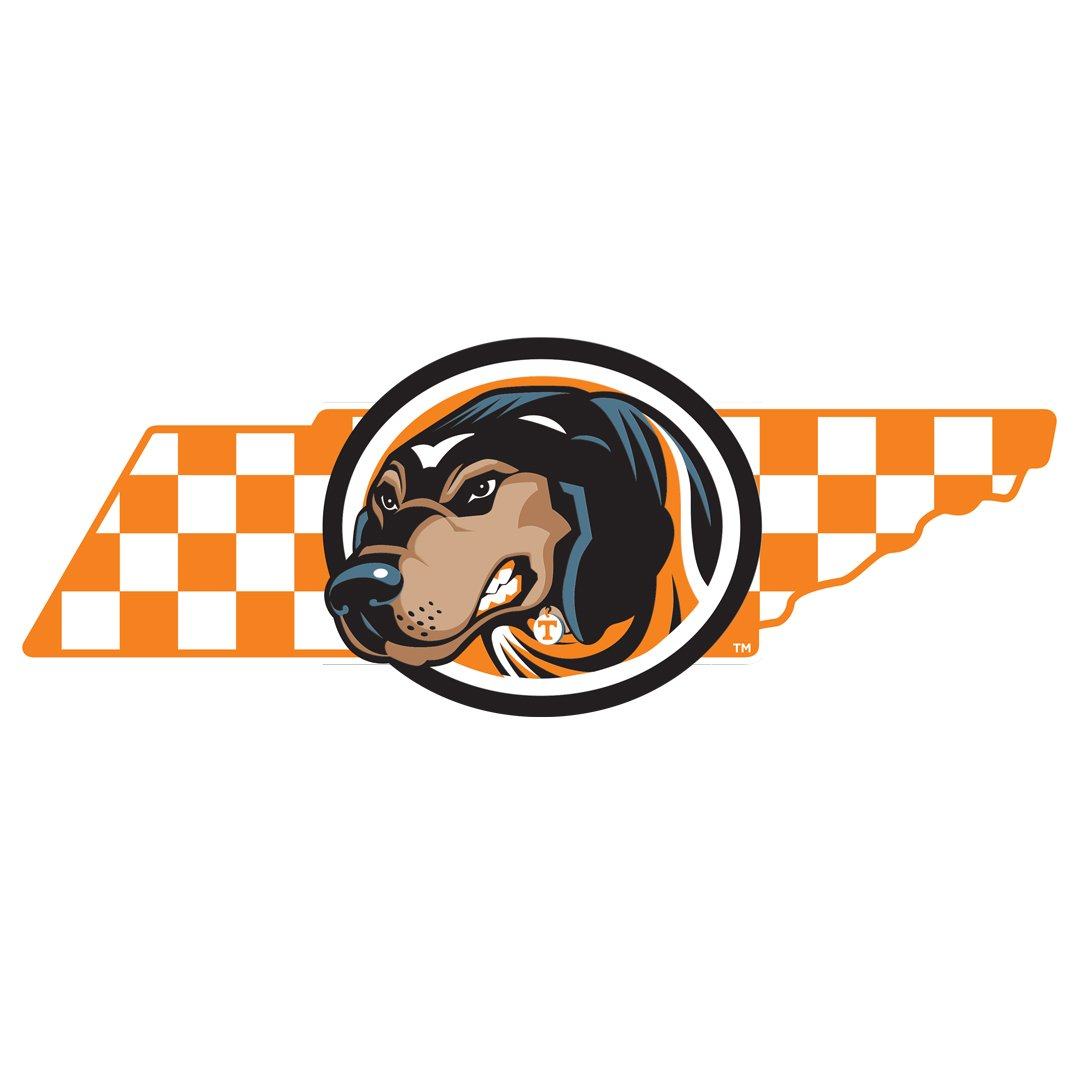 Tennessee Volunteers -  Smokey State Checkerboard 2 layer dimensional - College Wall Art #Dimensional