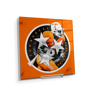 Tennessee Volunteers - Tri Star 2018 Orange - College Wall Art #Acrylic Mini