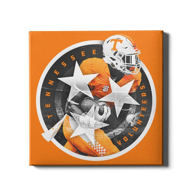Tennessee Volunteers - Tri Star 2018 Orange - College Wall Art #Canvas