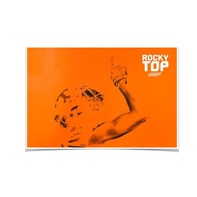 Tennessee Volunteers - One Rocky Top Orange - College Wall Art #Poster