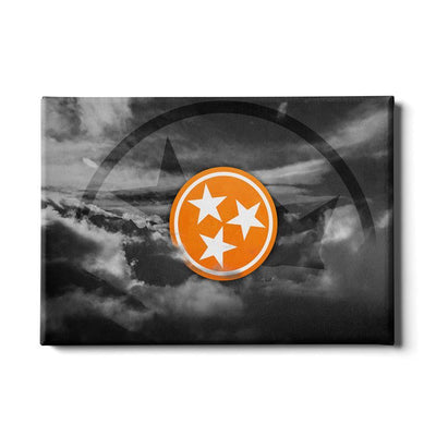 Tennessee Volunteers - Smokey Tri Star - College Wall Art #Canvas