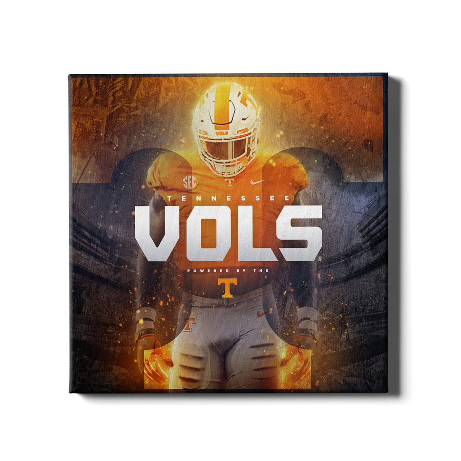 Tennessee Volunteers - Powered By The T Vols #Canvas