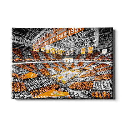 Tennessee Volunteers - Checkerboard Thompson-Boling DuoTone - College Wall Art #Canvas