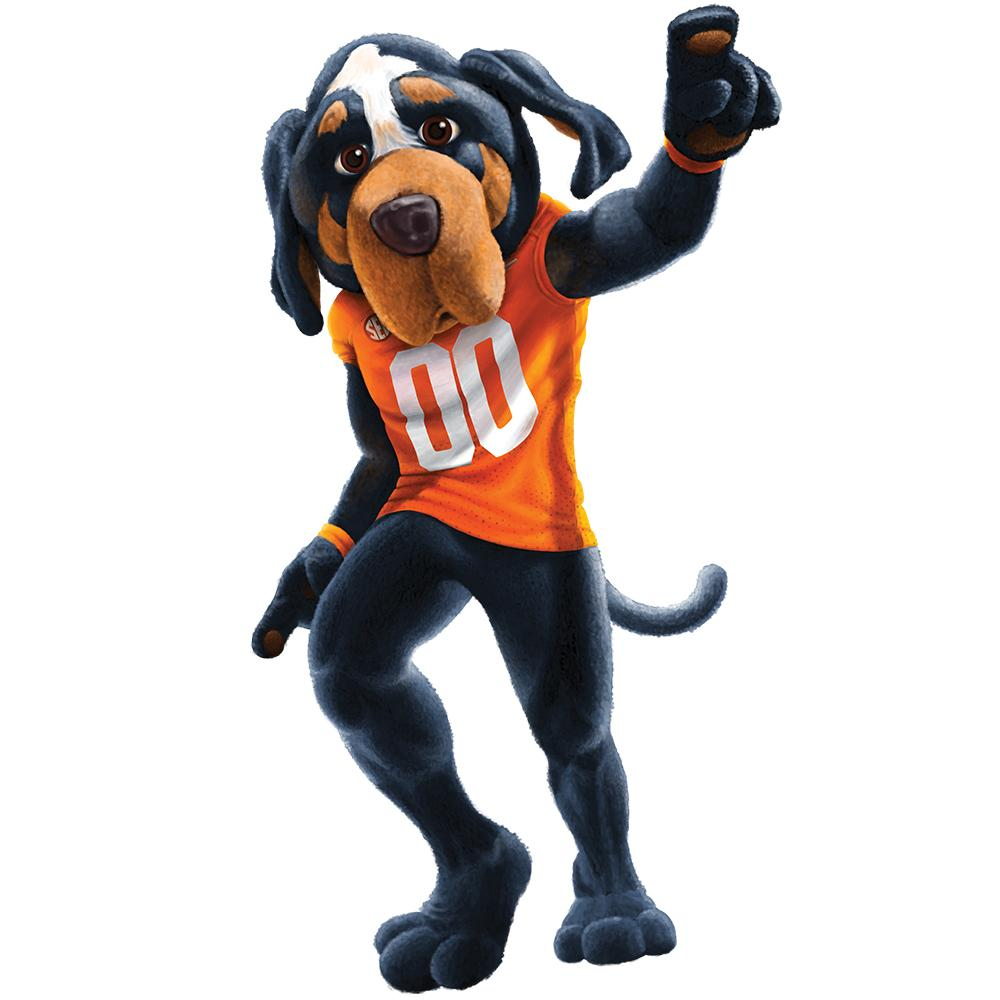 Tennessee Volunteers - Smokey Mascot 1 Layer Dimensional  - College Wall Art #Dimensional