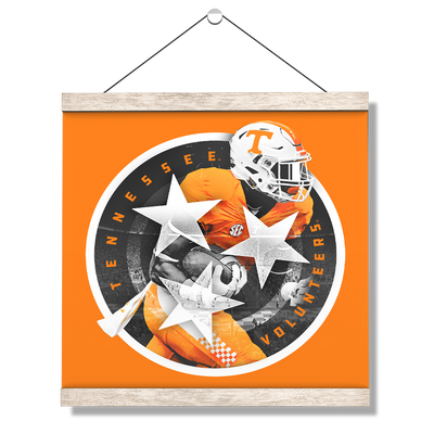 Tennessee Volunteers - Tri Star 2018 Orange - College Wall Art #Hanging Canvas