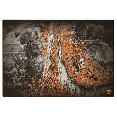 Tennessee Volunteers - Vol Walk - College Wall Art #Wood