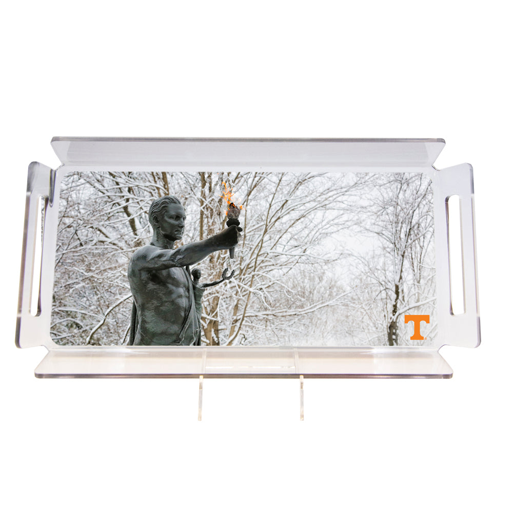 Tennessee Volunteers - Snowy Torchbearer #Tray