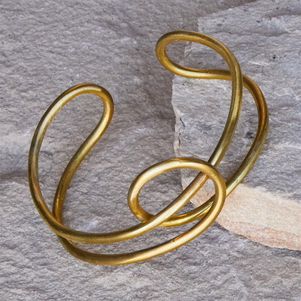 Nusa Twisted Wire Cuff - Brass