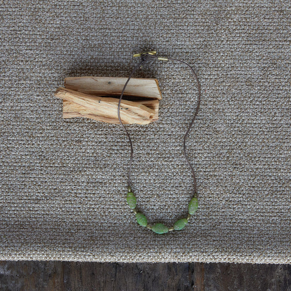Amaranth Beaded Necklace - Green