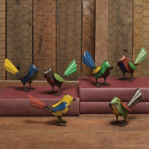 Reclaimed Metal Birds - Assorted Colors