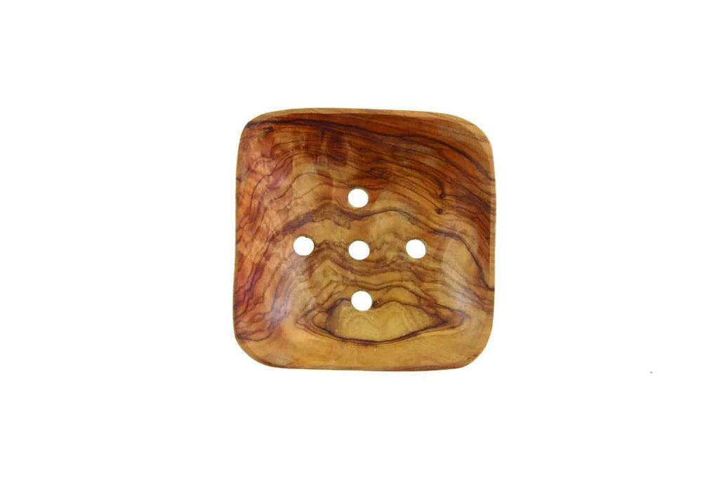 Olive Wood Square Soap Dish