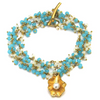 Petite Oyster Chalcedony Cluster Twig Wrap Bracelet / Necklace