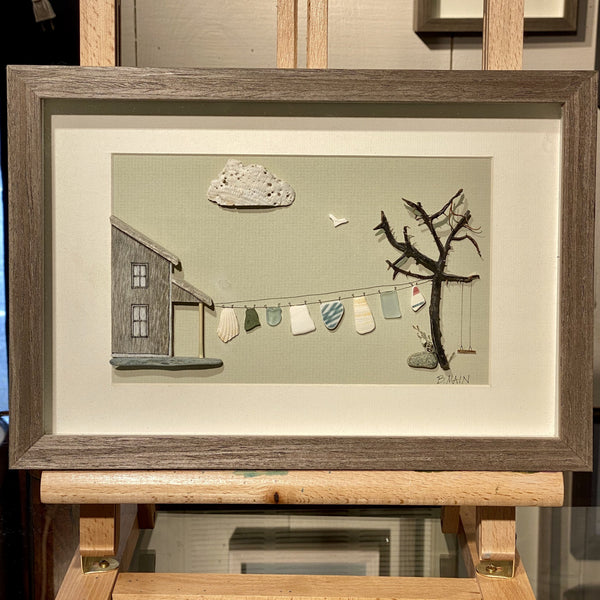 8x12 Homestead w/ Clothesline