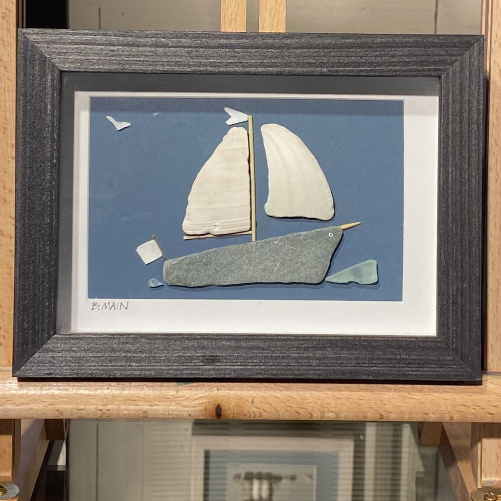 5x7 The Narwhal Sailboat