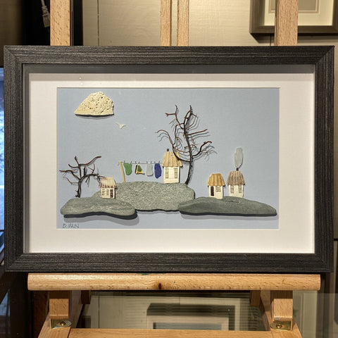 8x12 Seaside Village w/ Clothesline