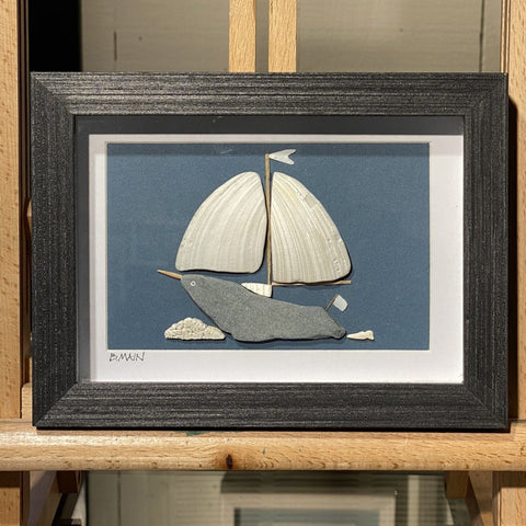 5x7 The Narwhal II Sailboat