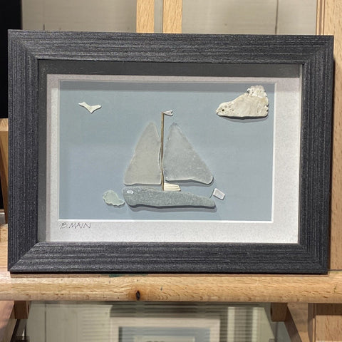 5x7 Out to Sea Sailboat