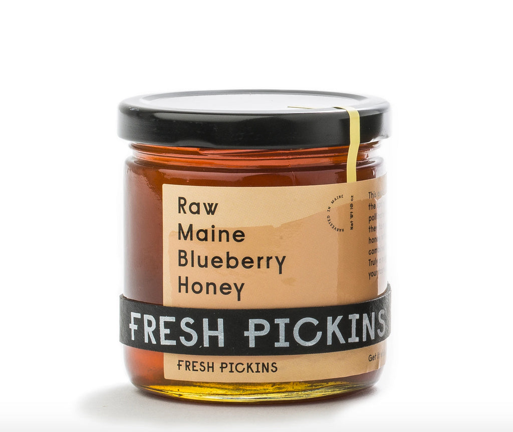Raw Maine Blueberry Honey 10 oz