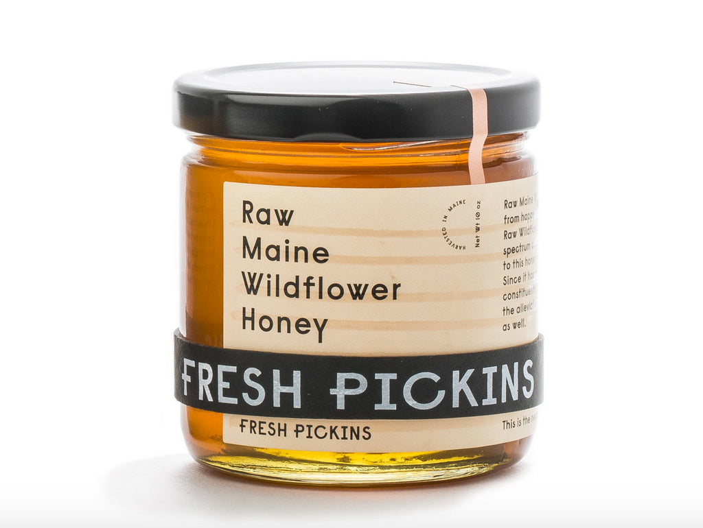 Raw Maine Wildflower Honey 10 oz