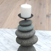 Triple Rock Cairn Candle Holders