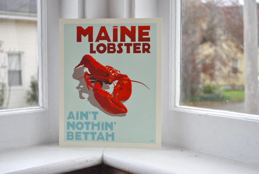 8x10 Maine Lobster