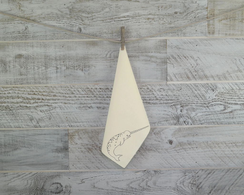 Organic Cotton Narwhal Handkerchief