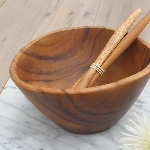 Acacia Wood Deep Bowl