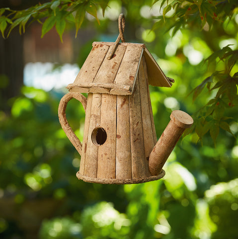 Rustic Watering Can Birdhouse