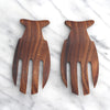 Acacia Wood Fish Shaped Salad Serving Set 6.5