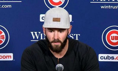 Cubs' Pitcher Jake Arrieta Accepts 2015 Cy Young Award Wearing GTS Snapback