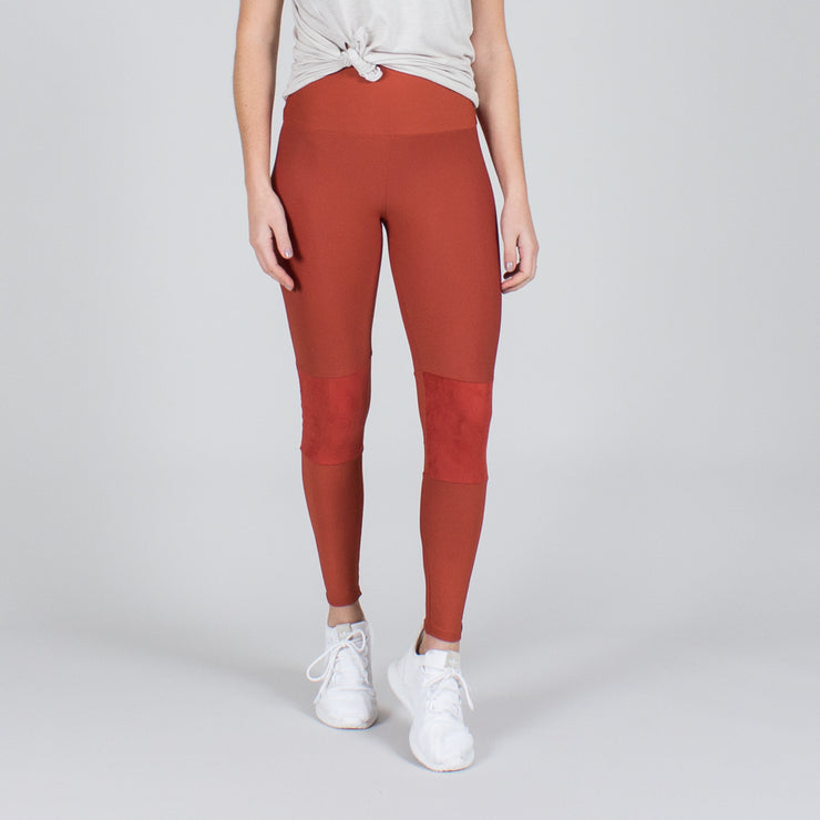 Suede Patch Pant