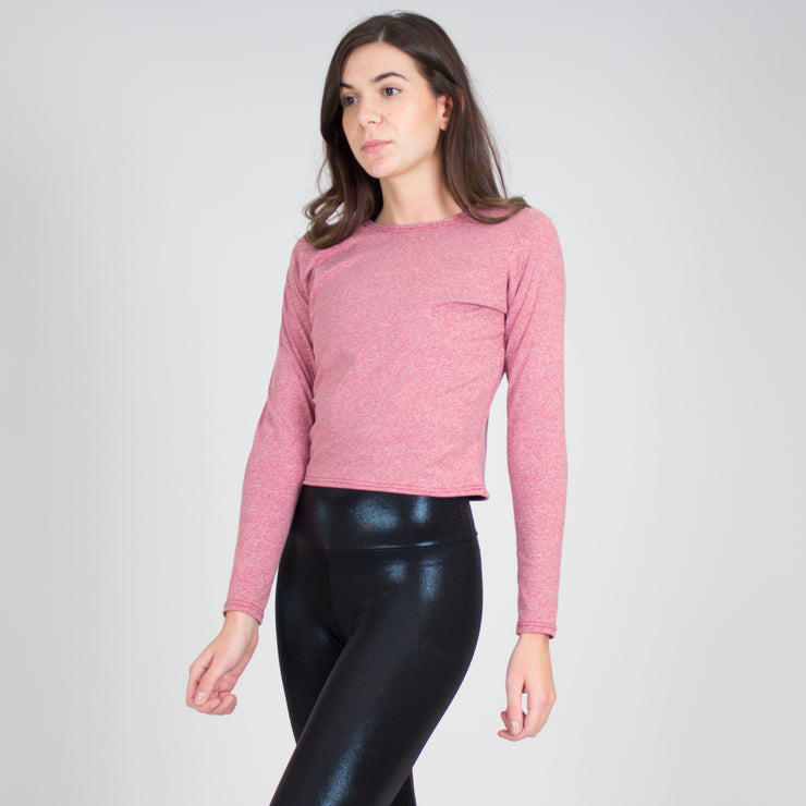 Relaxed Fit Long Sleeve Crop