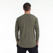 Long Sleeve Drop Cut Tencel Tee