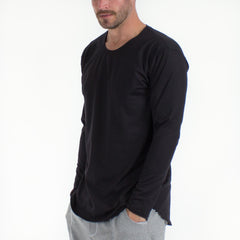 Long Sleeve Drop Cut Touch Tee