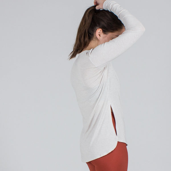 Side Slit Long Sleeve Tee