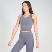 Ribbed Infinity Crop Top