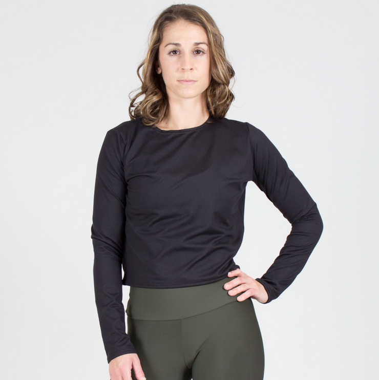 Sample Rack - Relaxed Fit Long Sleeve Crop - XS
