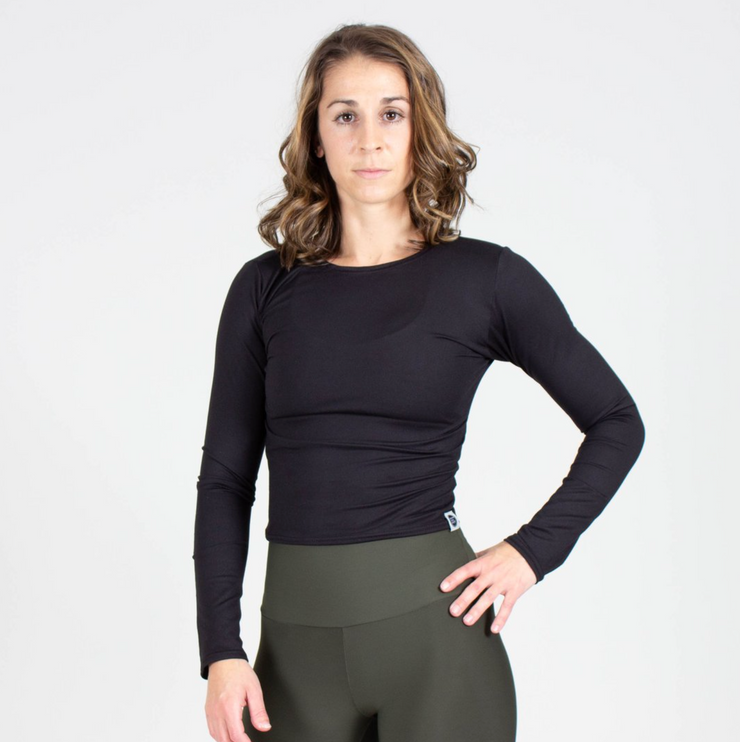 Sample Rack - Slim Fit Long Sleeve Crop - L