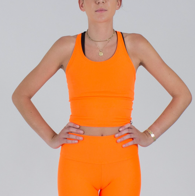 Sample Rack - Neon Infinity Crop Top - XS
