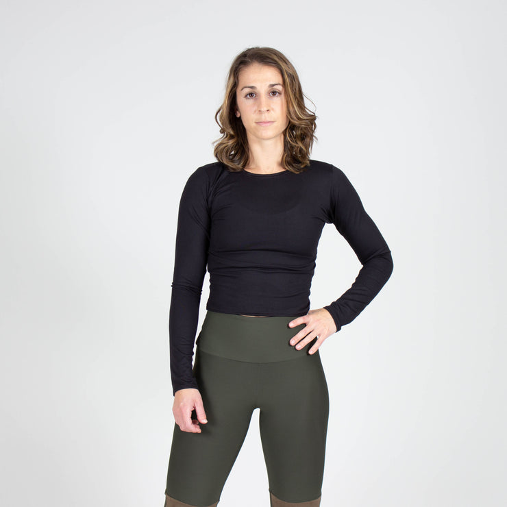 Slim Fit Long Sleeve Crop
