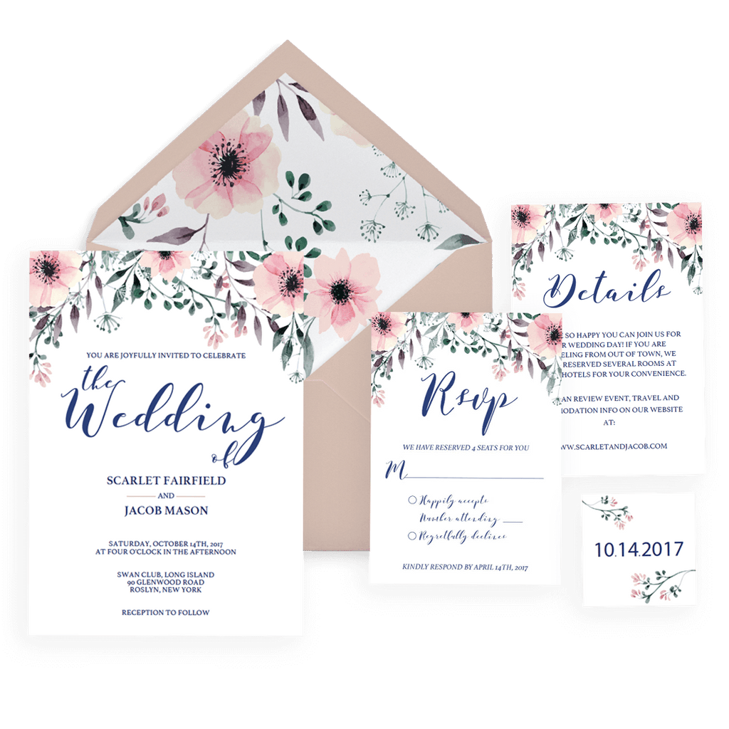 unique wedding invitation sets easy to use templates papersizzle