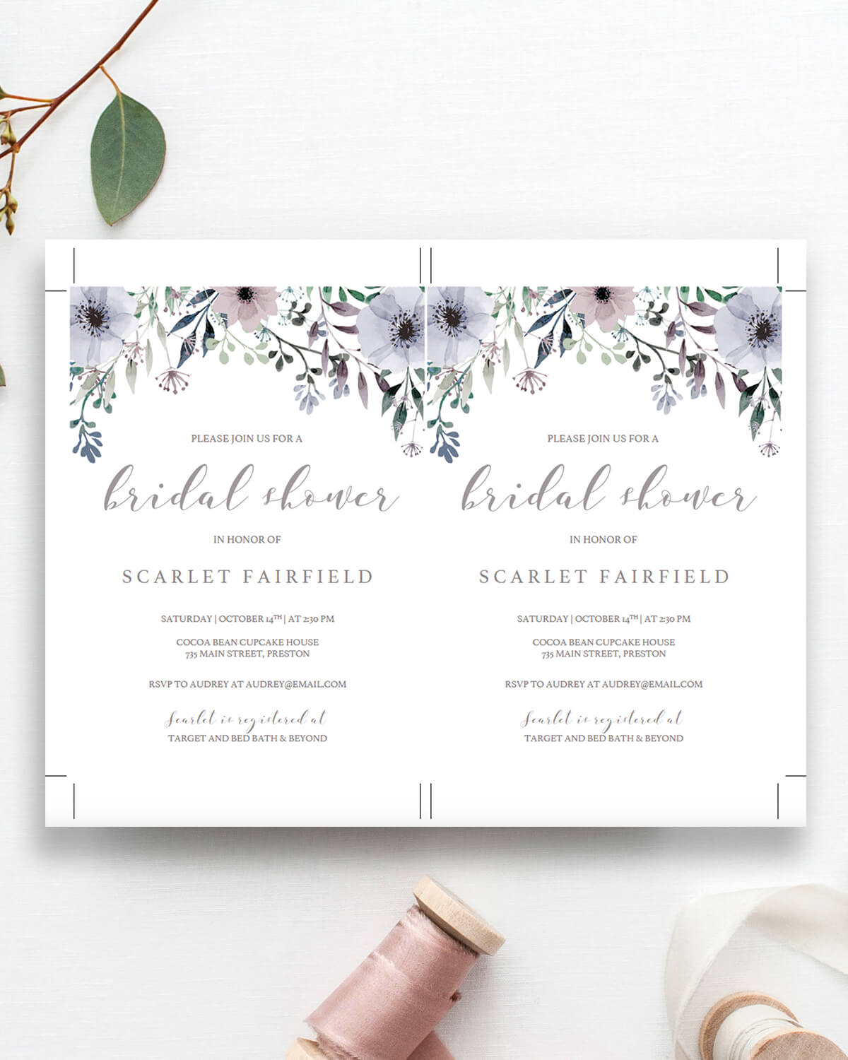 all bridal shower invitations papersizzle
