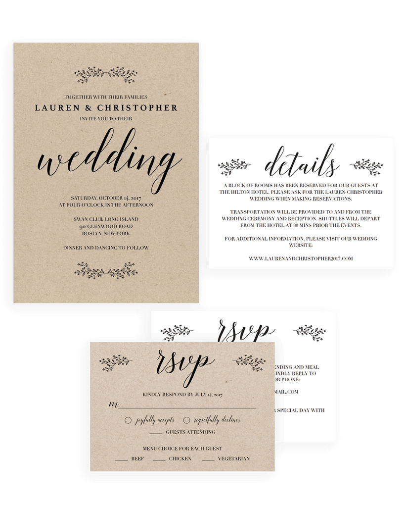 Unique Wedding Invitation Sets | Easy to Use Templates – Papersizzle