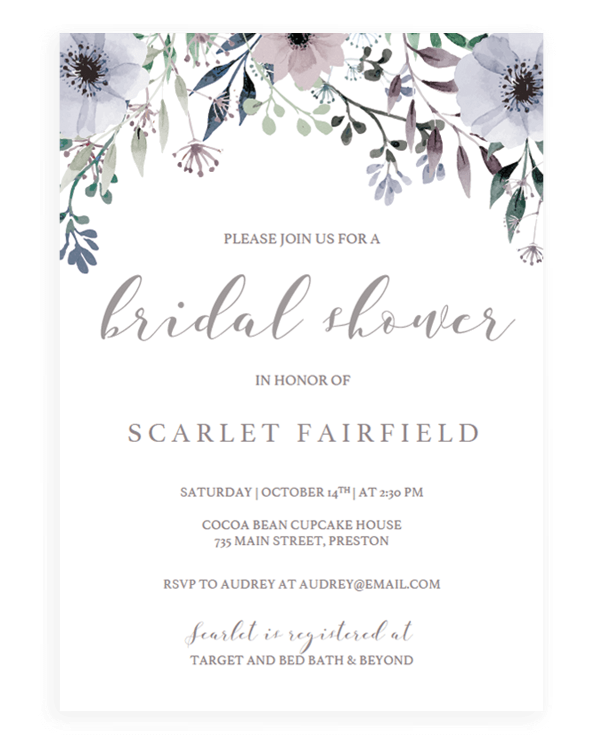 All bridal shower invitations - Papersizzle