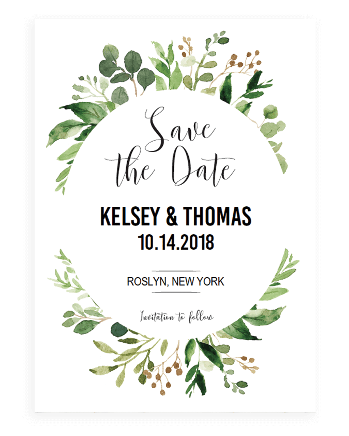 Save The Date Template - Resume Template Sample