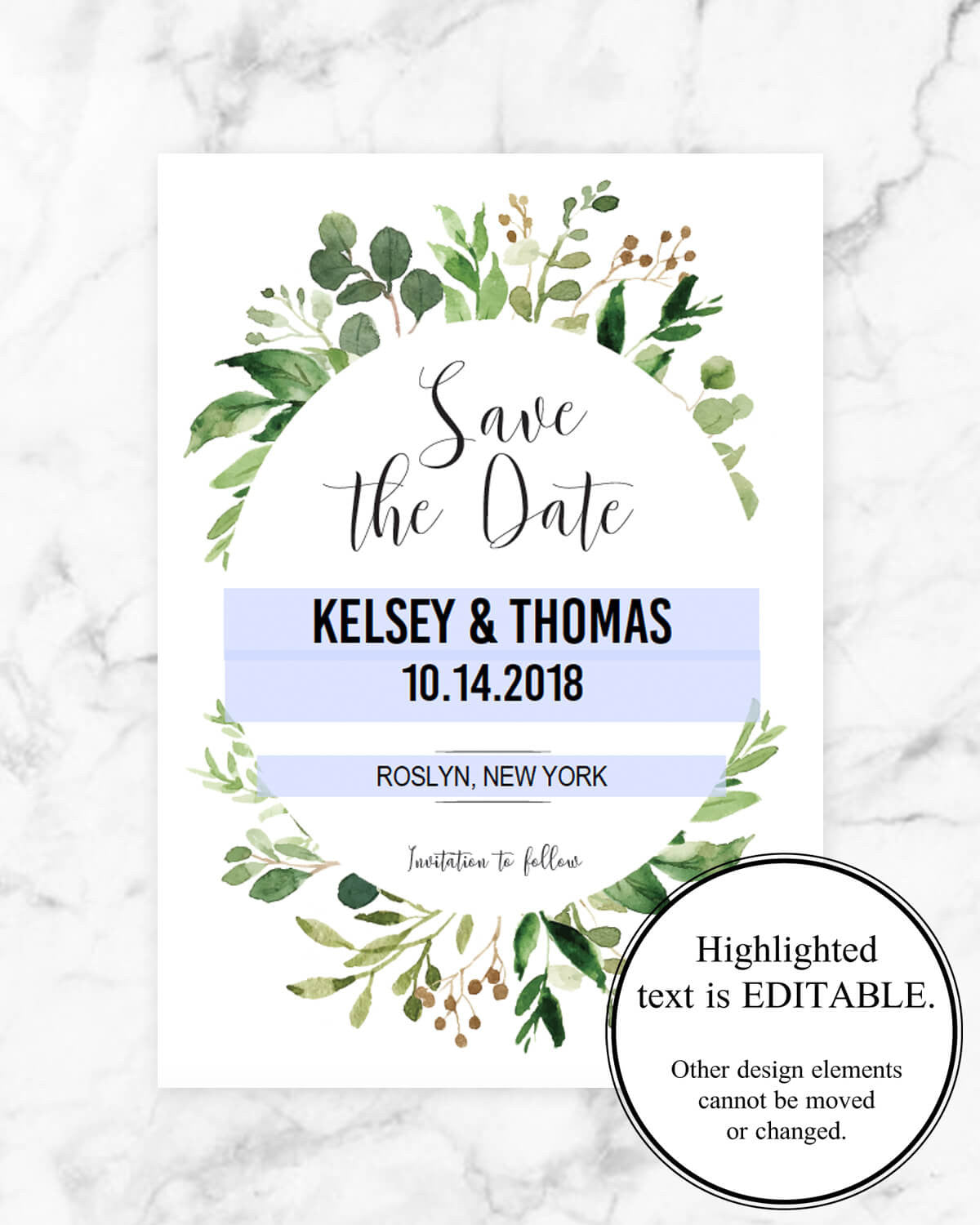 Printable Wedding Save The Date Template By Papersizzle