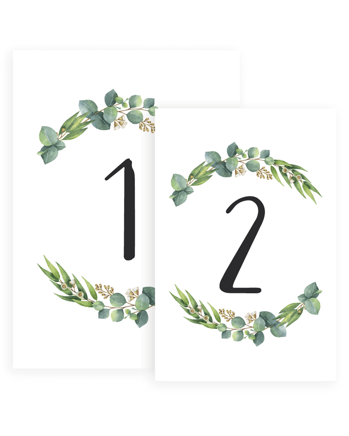 Table Numbers - Rich Eucalyptus - Papersizzle